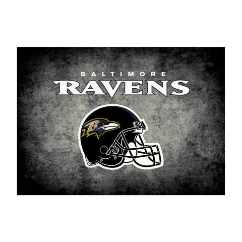 Baltimore Ravens 8X11 Distressed Rug