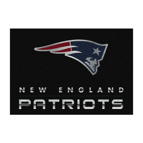 New England Patriots 8X11 Chrome Rug