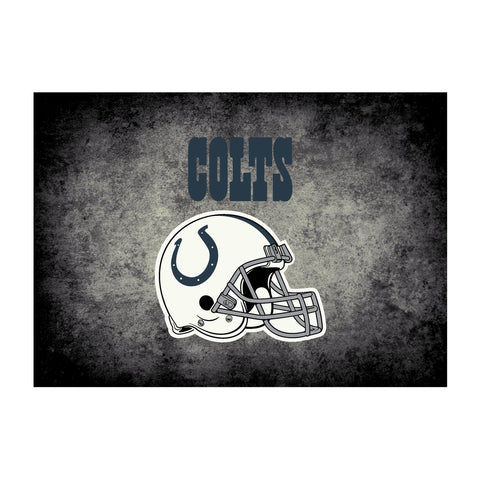 Indianapolis Colts 4X6 Distressed Rug