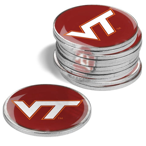 Virginia Tech Hokies 12 Pack Ball Markers