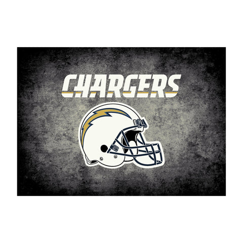 Los Angeles Chargers 8X11 Distressed Rug