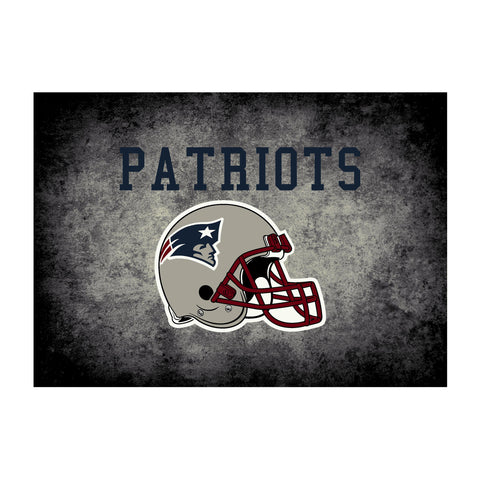 New England Patriots 8X11 Distressed Rug