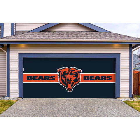 Chicago Bears Double Garage Door Cover