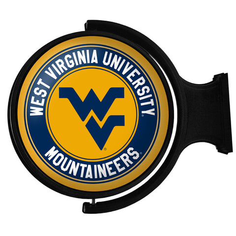 West Virginia Mountaineers  Rotating LED Team Spirit Round Wall Sign-Primary Logo