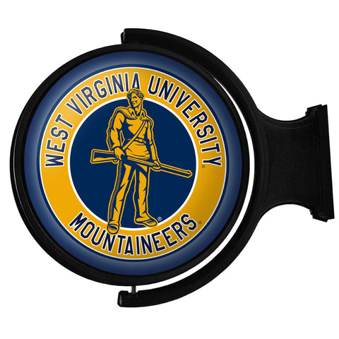 West Virginia Mountaineers  Rotating LED Team Spirit Round Wall Sign-Moutaineers