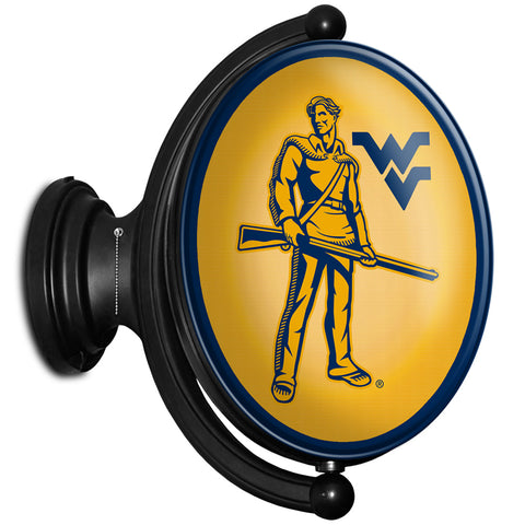 West Virginia Mountaineers  Rotating LED Team Spirit Oval Wall Sign-Mountaineers