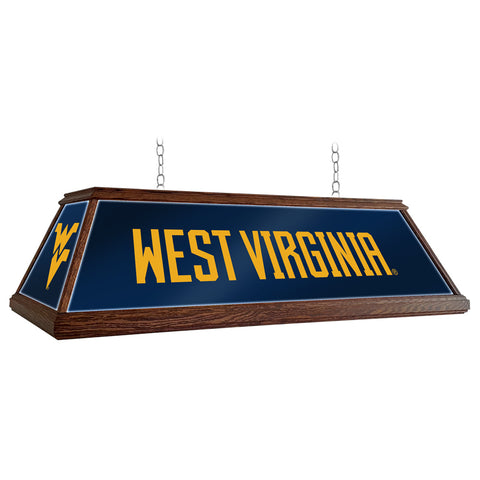 "West Virginia Mountaineers  49"" Premium Wood Pool Table Light"