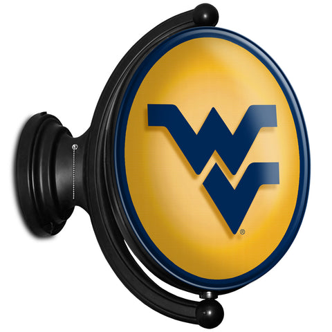 West Virginia Mountaineers  Rotating LED Team Spirit Oval Wall Sign-Primary Logo