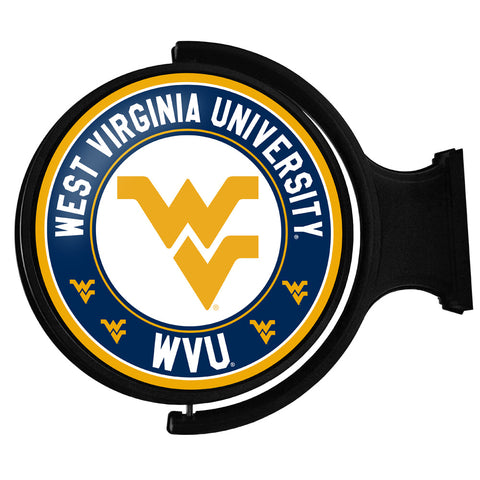 West Virginia Mountaineers  Rotating LED Team Spirit Round Wall Sign-Primary Logo 2