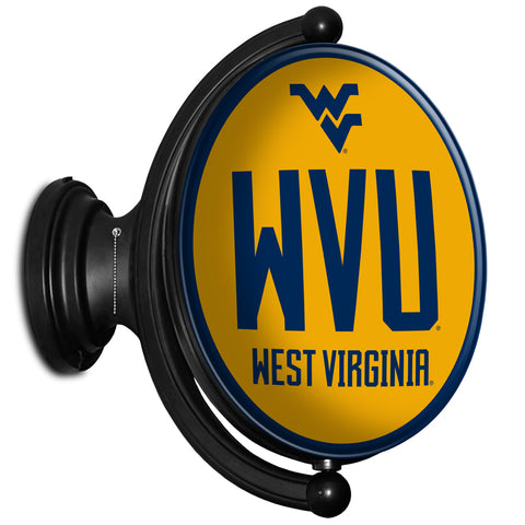 West Virginia Mountaineers  Rotating LED Team Spirit Oval Wall Sign-U
