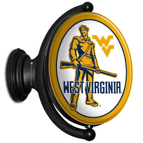 West Virginia Mountaineers  Rotating LED Team Spirit Oval Wall Sign-Moutaineers 2
