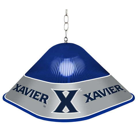 Xavier Musketeers Game Table Light-Square-Priamry Logo