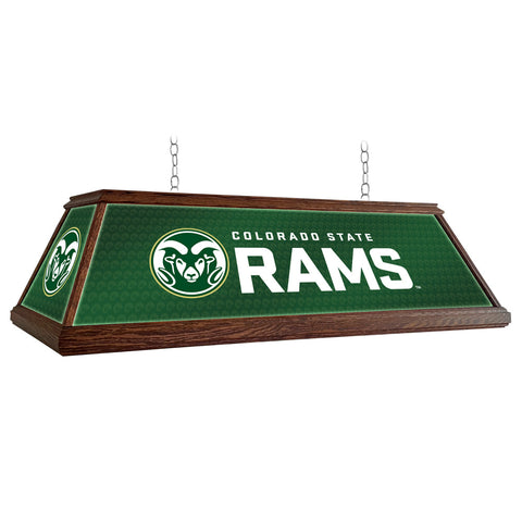 "Colorado State Rams 49"" Premium Wood Pool Table Light"