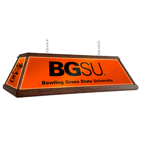 "Bowling Green Falcons 49"" Premium Wood Pool Table Light"