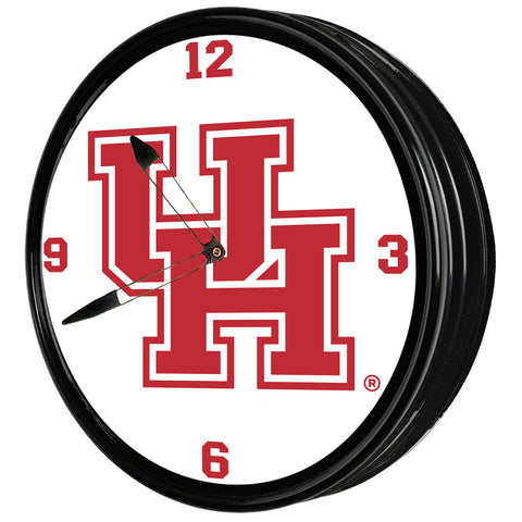 "Houston Cougars 19"" LED Team Spirit Clock-Primary Logo"