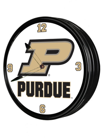 "Purdue Boilermakers 19"" LED Team Spirit Clock-Primary Logo"