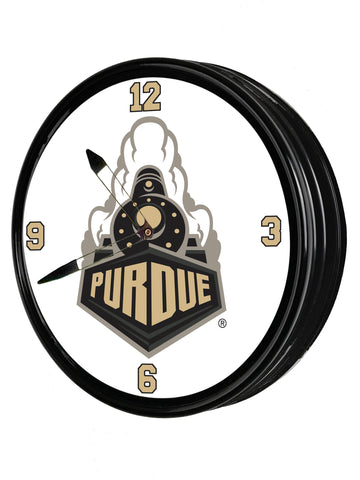 "Purdue Boilermakers 19"" LED Team Spirit Clock-Train"