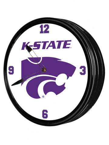 "Kansas State Wildcats 19"" LED Team Spirit Clock-K-State"