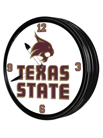 "Texas State Bobcats 19"" LED team Spirit Clock-Primary Logo"