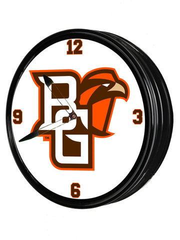 "Bowling Green Falcons 19"" LED team Spirit Clock-Primary Logo"