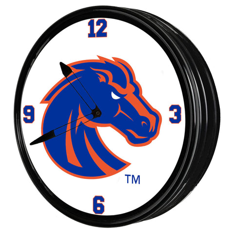"Boise State Broncos 19"" LED Team Spirit Clock-Primary Logo"