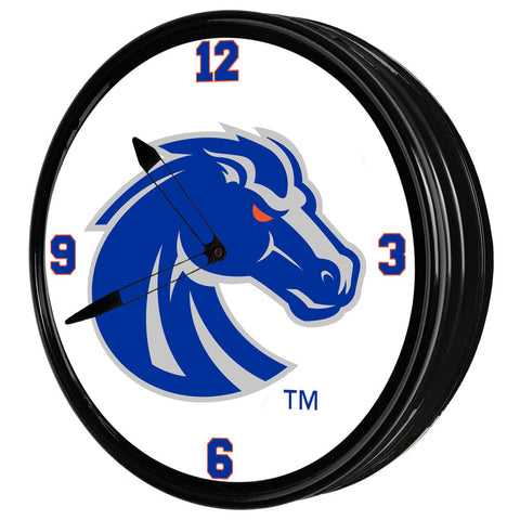 "Boise State Broncos 19"" LED Team Spirit Clock-Primary Logo Gray"