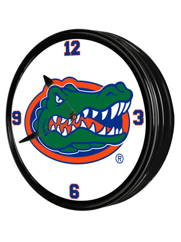 "Florida Gators 19"" LED Team Spirit Clock-Primary Logo"
