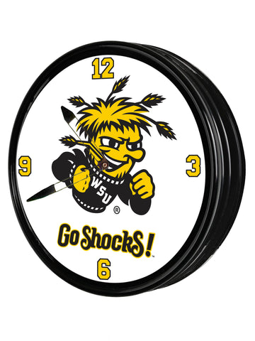 "Wichita State Shockers 19"" LED Team Spirit Clock-Primary Logo"