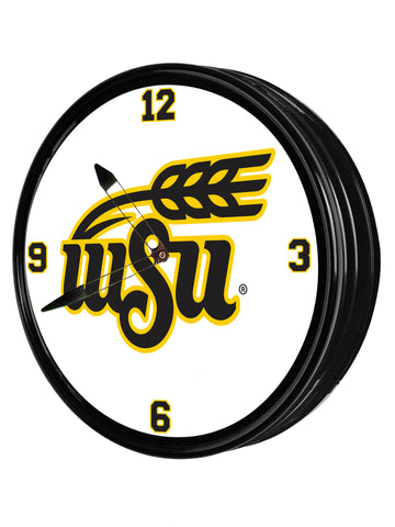 "Wichita State Shockers 19"" LED Team Spirit Clock-Institution Logo"