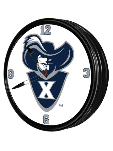 "Xavier Musketeers 19"" LED Team Spirit Clock-Secondary Logo"
