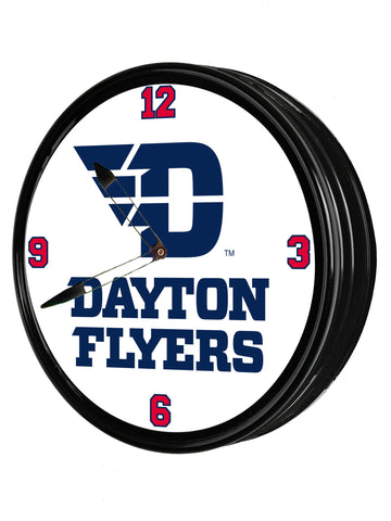 "Dayton Flyers  19"" LED Team Spirit Clock-Flyers"