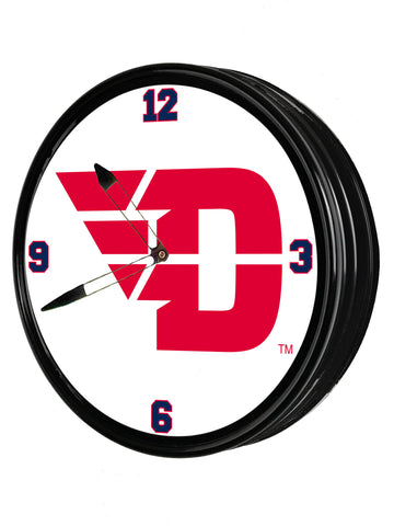 "Dayton Flyers  19"" LED Team Spirit Clock-Primary Logo"