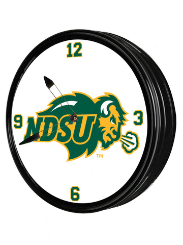 "North Dakota State Bison 19"" LED Team Spirit Clock-Primary Logo"