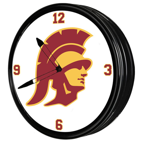 "USC Trojans 19"" LED Team Spirit Clock-Trojan"