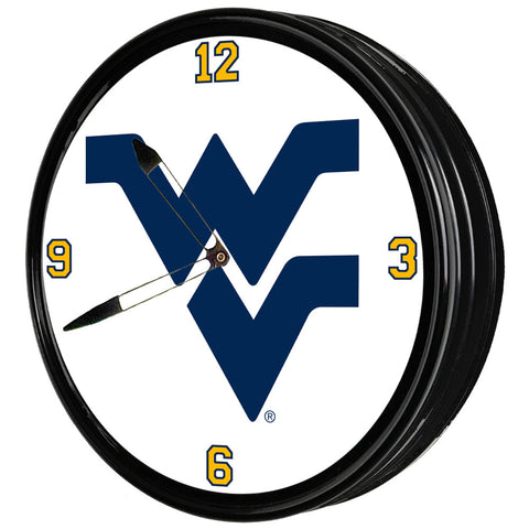 "West Virginia Mountaineers  19"" LED Team Spirit Clock-Primary Logo"