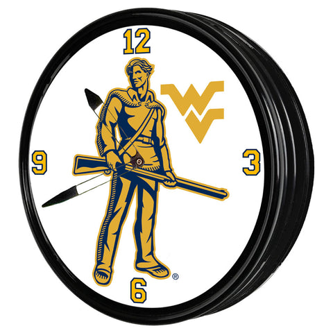 "West Virginia Mountaineers  19"" LED Team Spirit Clock-Mountaineers"