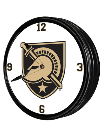 "Army Black Knights 19"" LED Team Spirit Clock-Primary Logo"