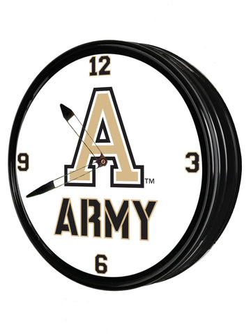 "Army Black Knights 19"" LED Team Spirit Clock-Army"