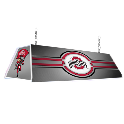 "Ohio State Buckeyes 46"" Edge Glow Pool Table Light-Silver"