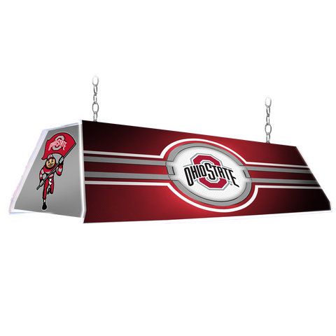"Ohio State Buckeyes 46"" Edge Glow Pool Table Light-Red"
