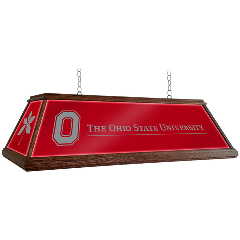 "Ohio State Buckeyes 49"" Premium Wood Pool Table Light"