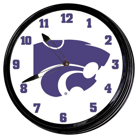 "Kansas State Wildcats 19"" LED Team Spirit Clock-Primary Logo"