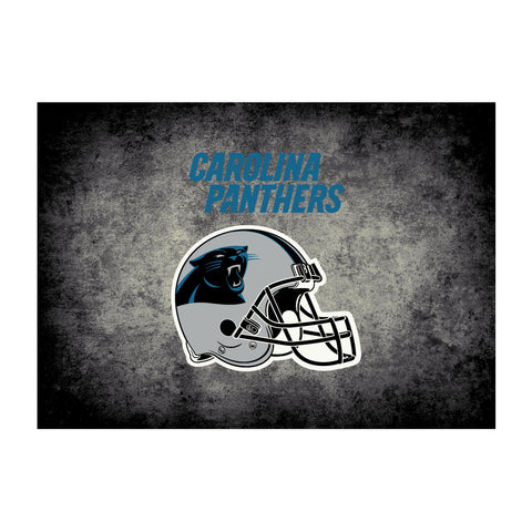 Carolina Panthers 8X11 Distressed Rug