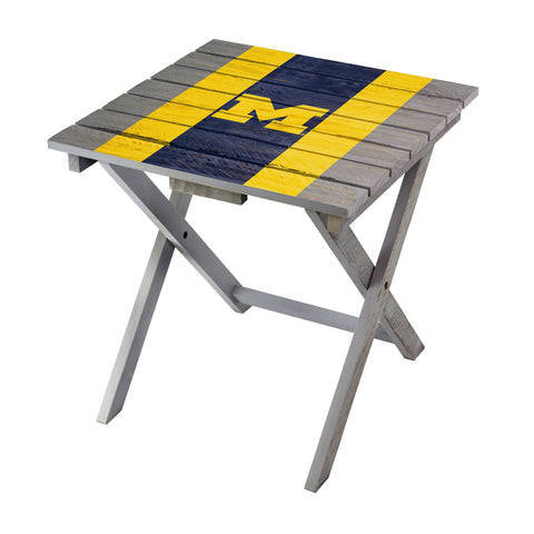 Michigan Wolverines Adirondack Folding Table