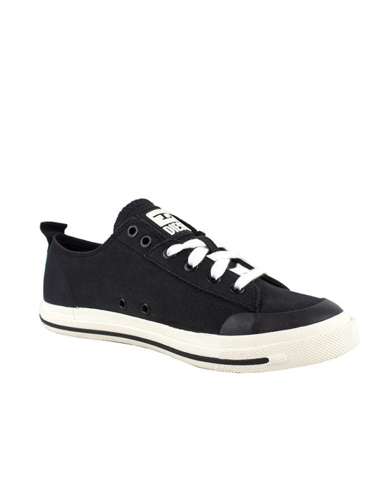 Diesel Astico Low Cut Black Canvas Sneaker