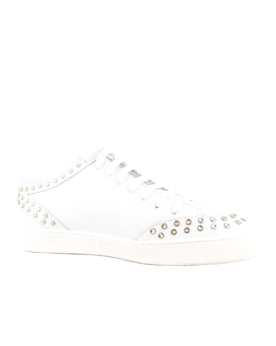 Finery Johnny White Stud Sneaker