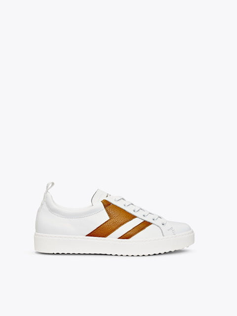 Finery Montana White Tan Sneaker