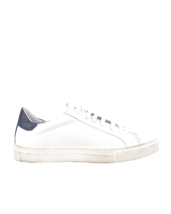 ZK Swank Navy White Leather Sneaker