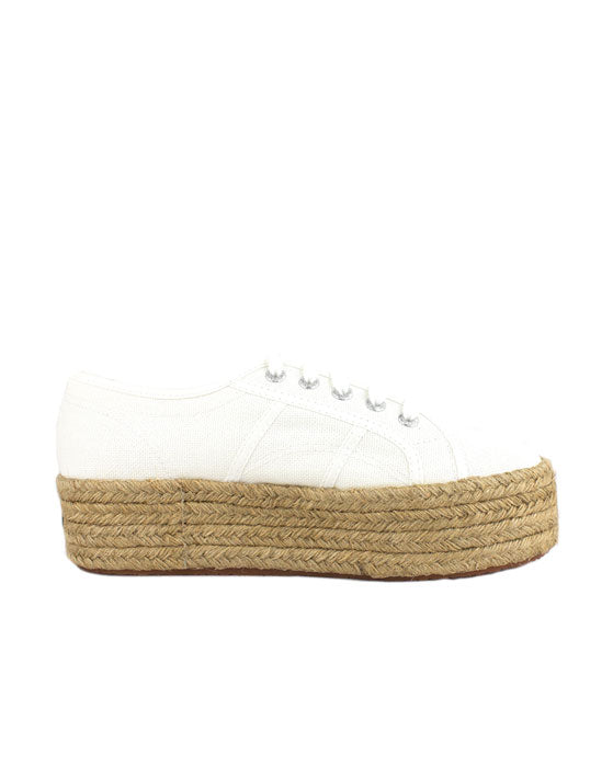 Superga White Rope Sole Sneaker