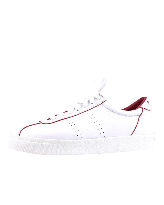 Superga 2869 White Red Flame Leather Sneaker